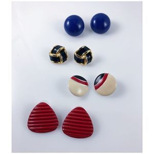 Vintage Nautical 80s earrings set